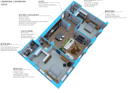 Option H- 2 bedroom/2 bath units