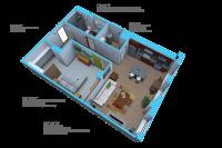 Option K- 1 bedroom/1 bath units