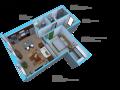 Option J-1 bedroom/1bath units