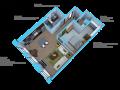 Option B- 1 bedroom/1 bath units