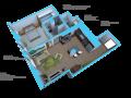 Option I- 1 bedroom/1 bath units